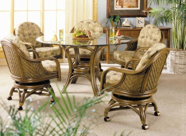 esszimmer rattan. Black Bedroom Furniture Sets. Home Design Ideas