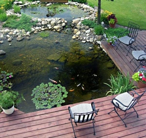 Gartenteich bauen 30 frische ideen f r ihren hinterhof - Gartenteich gestaltungsideen ...