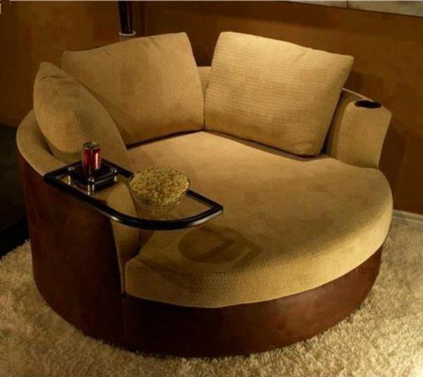 Sofa im heimkino 30 originelle vorschl ge for Kleines rundes sofa