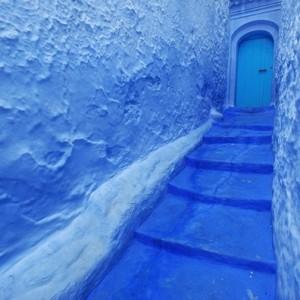 Eine ganze Stadt aus Morocco in Farbe Blau!
