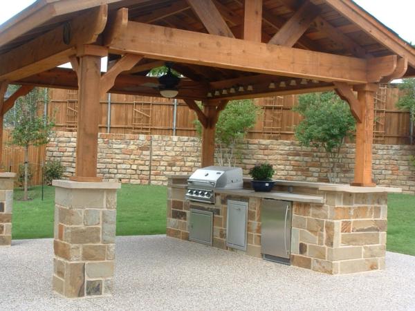 Outdoor k che gestalten 32 prima ideen for Built in gazebo