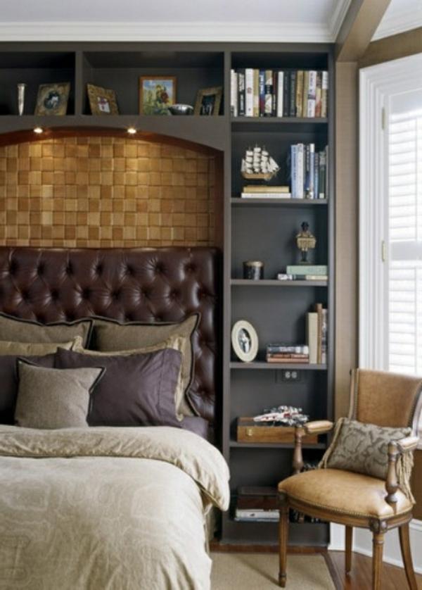 super-schlafzimmer-inspirationen- kopfbrett-braun