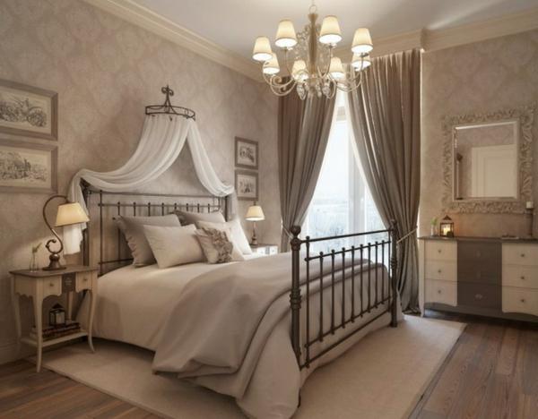 taupe-farbe-für-schlafzimmergardinen-elegante ausstattung