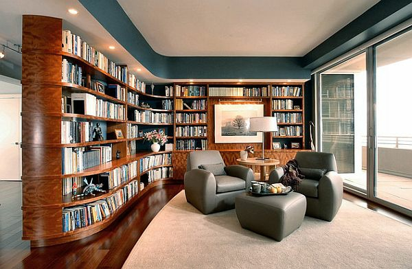 ultra-moderne-design- Haus – Bibliothek