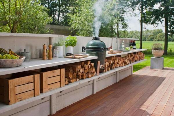 outdoor kueche gestalten  prima ideen