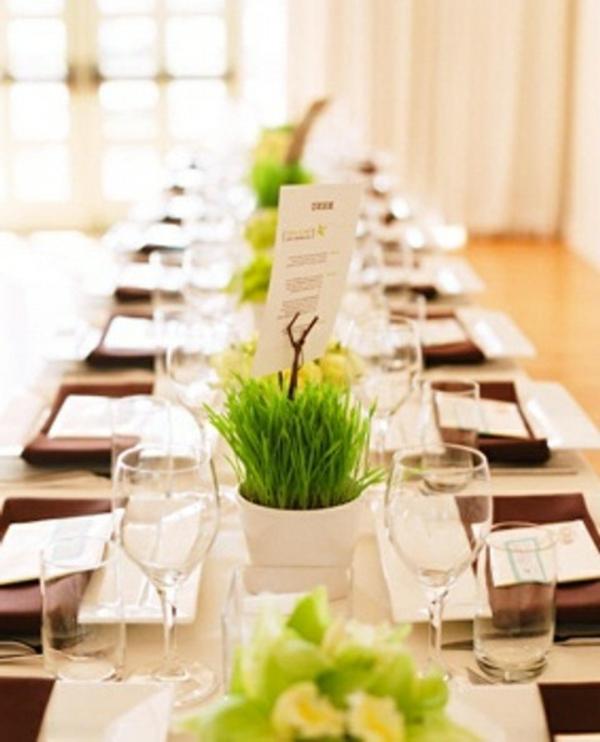 Tischdeko Modern tischdeko zur hochzeit grün und weiß hochzeit