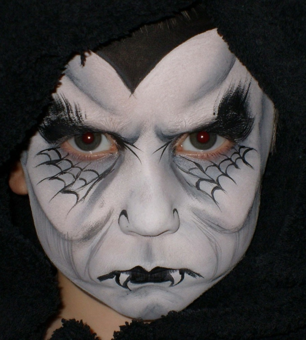 gesicht schminken vampir moderne gestaltung