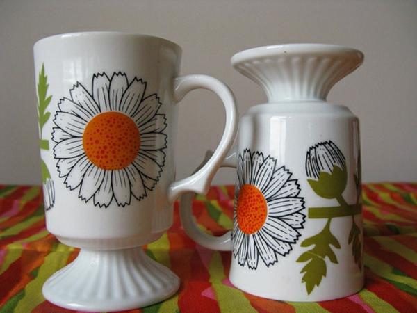 vintage-kaffee-tassen-wunderschöne gestaltung