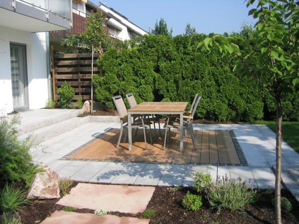 Vorgartengestaltung Reihenhaus Sitzplatz 2