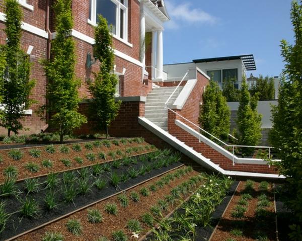 vorgartengestaltung vom reihenhaus – möglich und wie! - archzine, Garten Ideen