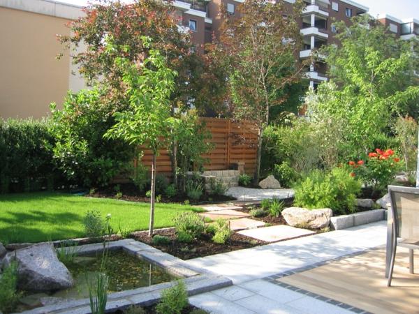 vorgartengestaltung-reihenhaus-wasserbecken