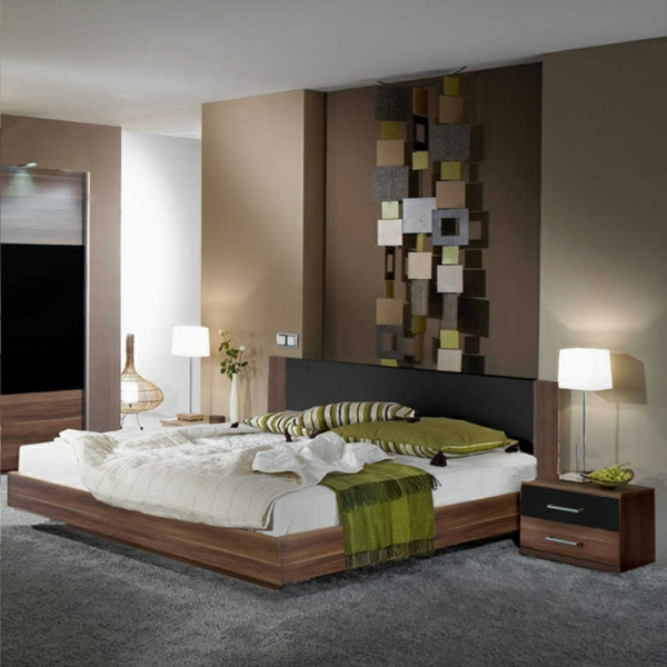 braune wandfarbe schlafzimmer m belideen. Black Bedroom Furniture Sets. Home Design Ideas