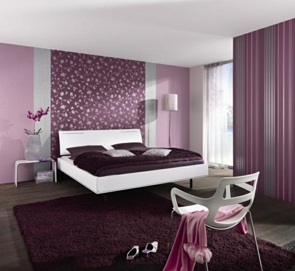 Modernes schlafzimmer lila  Lila Schlafzimmer - 31 super kreative Beispiele! - Archzine.net
