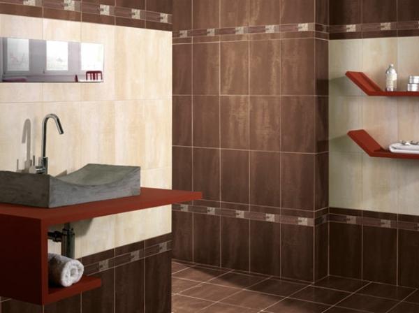 Wandfarbe mocca mit nuancen von schokoladengeschmack for Badezimmer wandfarbe