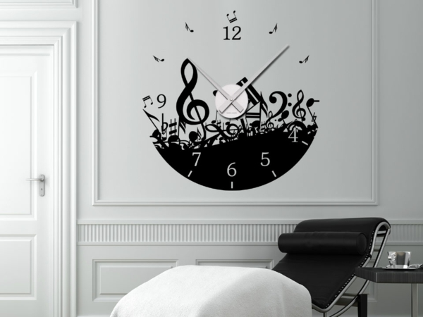 wanduhr tattoo die zeit an der wand haben. Black Bedroom Furniture Sets. Home Design Ideas