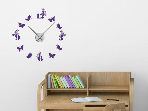 wanduhr tattoo die zeit an der wand haben. Black Bedroom Furniture Sets. Home Design Ideas