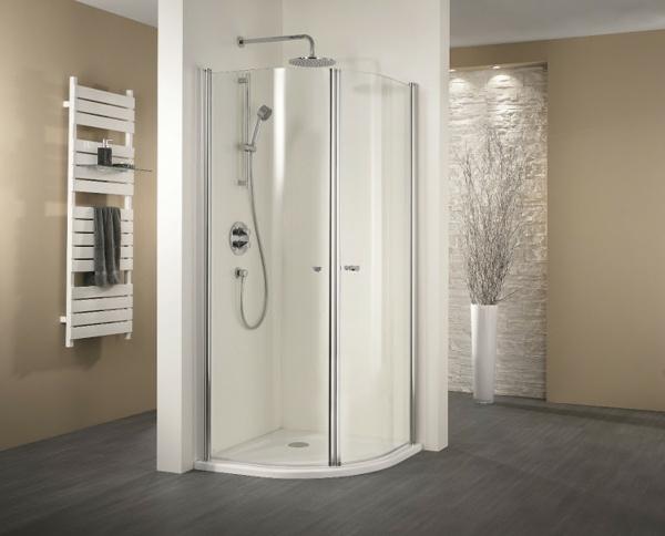 weiße-fertigduschkabine- dekoration für ein schönes bad