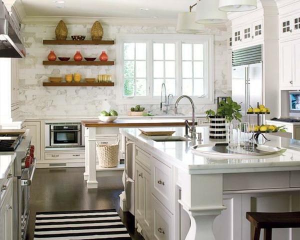 weiße-französische-küche-ausstatten- weiße fassade