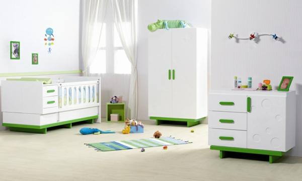 weißes-babyzimmer-gestalten-ultramoderne möbel