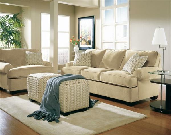 wohnzimmereinrichtungen-weiße-möbel-kleines wohnzimmer ultramodern gestalten
