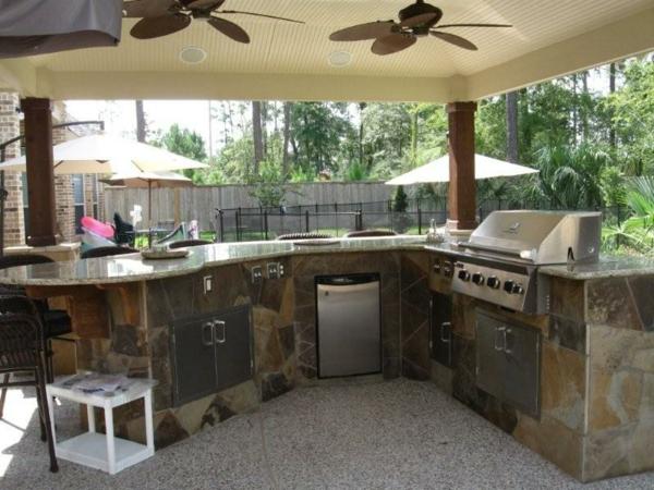 wunderschön-aussehende-outdoor-küche-Einmalig erscheinen