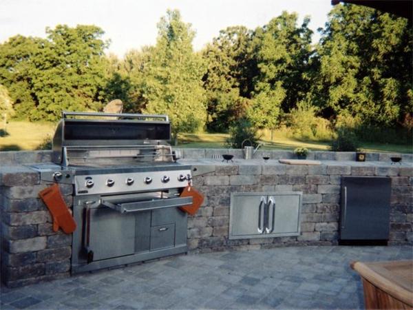 wunderschön-wirkende-outdoor-küche-Einmalig erscheinen