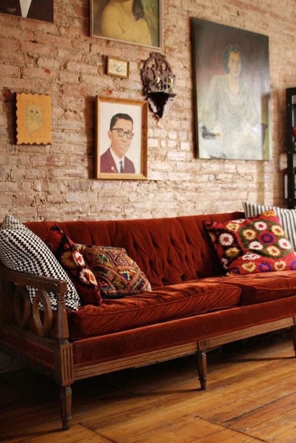 ziegelwand wohnzimmer:Ziegelwand im Wohnzimmer (am besten mit einem Kamin kombiniert)
