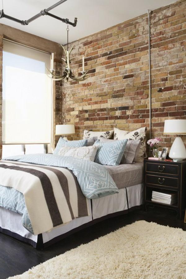 Ziegelmauer Integrieren Im Schlafzimmer Ziegelwand ...