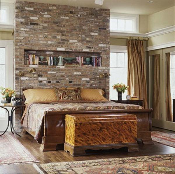 ziegelwand in der wohnung integrieren extravagante ideen. Black Bedroom Furniture Sets. Home Design Ideas