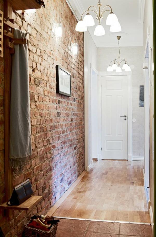 Ziegelwand in der Wohnung integrieren – extravagante Ideen ...