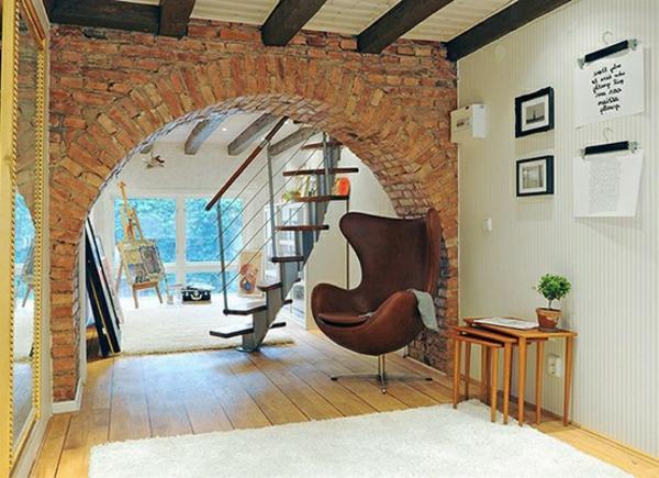 ziegelwand wohnzimmer – abomaheber, Wohnzimmer