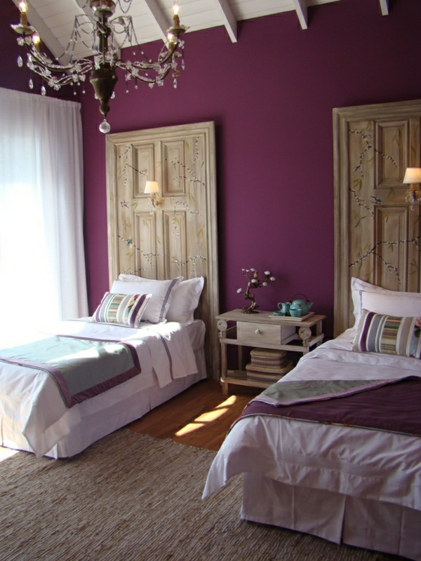 lila schlafzimmer 31 super kreative beispiele