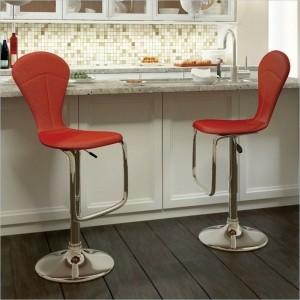 Rote Barhocker bringen Eleganz zu jeder Küche!