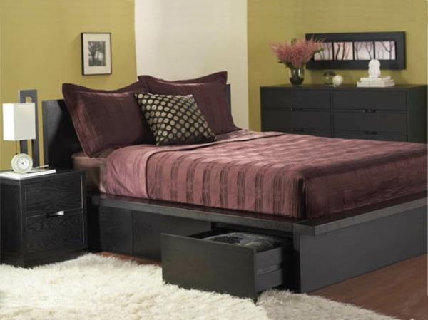 kleines gemütliches schlafzimmer im skandinavischen stil