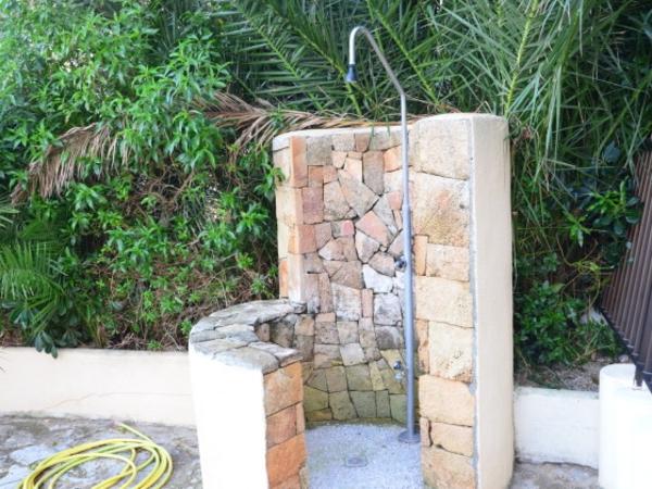 Dusche garten solar sichtschutz