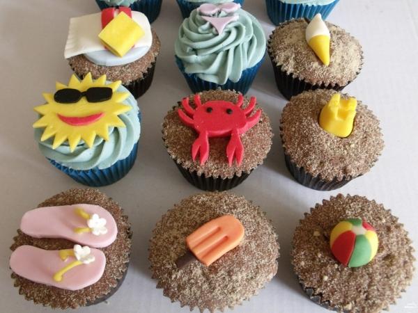 Cupcakes Design DEkoideen am Strand