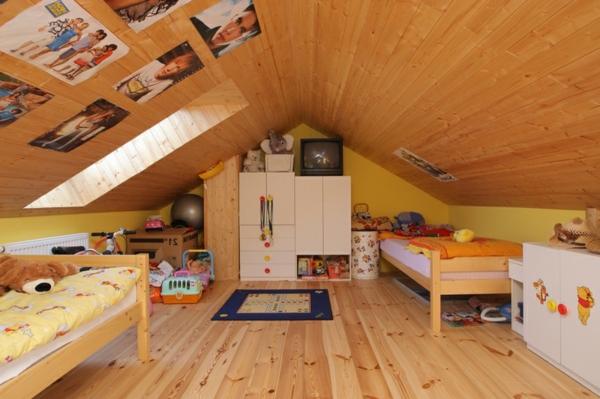 Dachgeschoss-einrichten-kreatives-Kinderzimmer-für-zwei-kinder