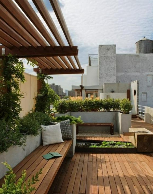 Dachterrassengestaltung  Dachterrassengestaltung - 30 super Ideen! - Archzine.net
