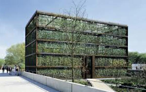 Farbbedeutung-Grün-grüne-Architektur-auf-dem-Gebäude