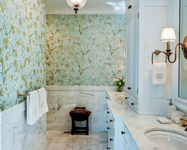 Abwaschbare Tapete Tapezieren : Auch die anderen Bilder zeigen wie sch?n das Badezimmer mit Tapeten