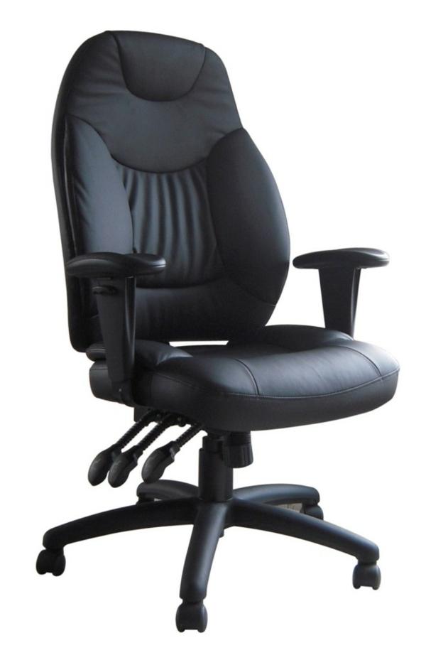 Günstige-Bürostühle-und-Bürosessel-schwarz-breite-lehne-hintergrund in weiß