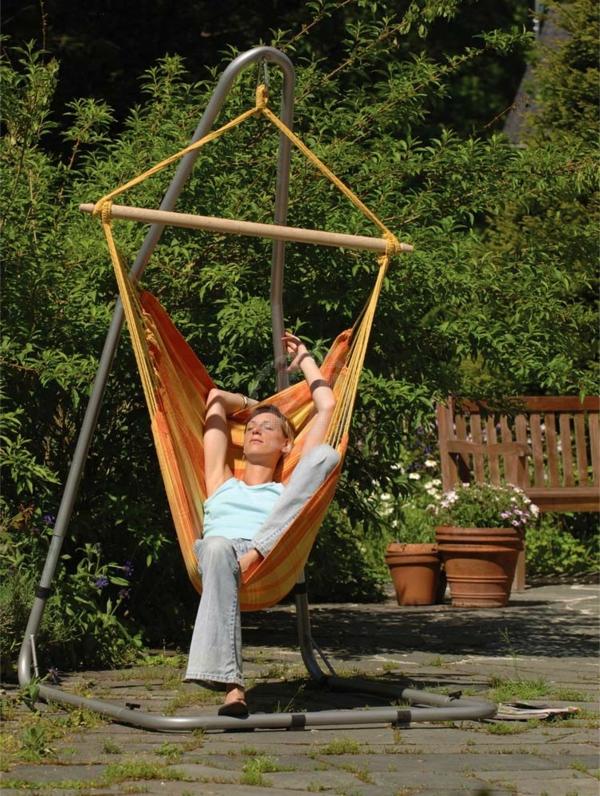 Hängematten-sessel-orange-outdoor