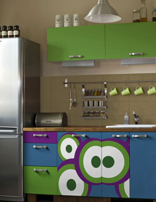 Küchenschränke Bekleben Muster Folie 3