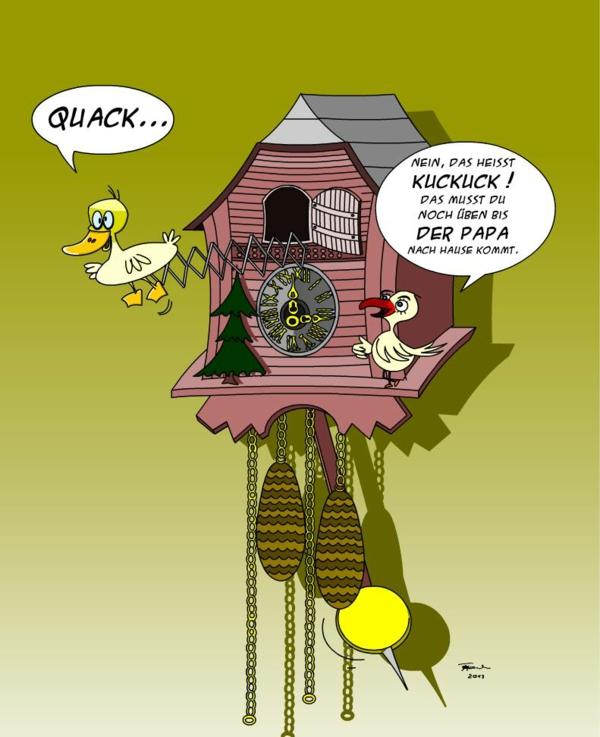 Haus bauen comic  Kuckucksuhr selber bauen ist eine Kuckucksaufgabe! - Archzine.net