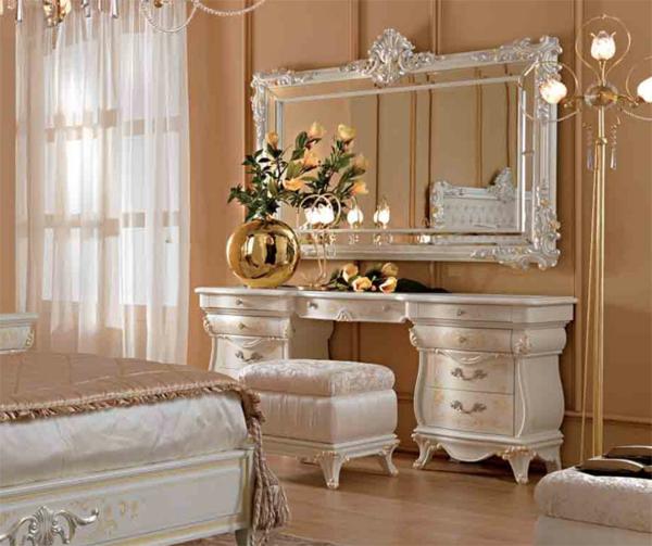 Make-Up-Tisch-weiße-möbel-kommode