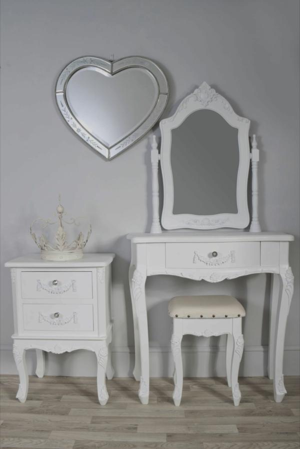 Make-Up-Tisch-weiße-möbel-spiegel-herz