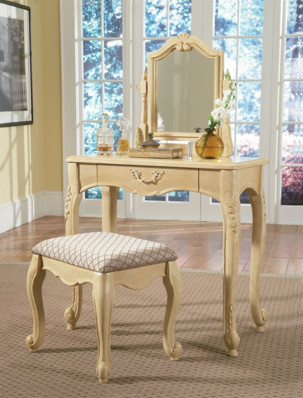 make up tisch mit spiegel camdoe danlen labradorit sterreich kristall grau frost mondstein. Black Bedroom Furniture Sets. Home Design Ideas