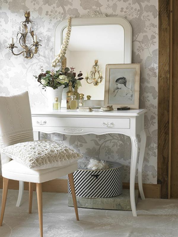 Make-Up-Tisch-weiße-möbel-vintage