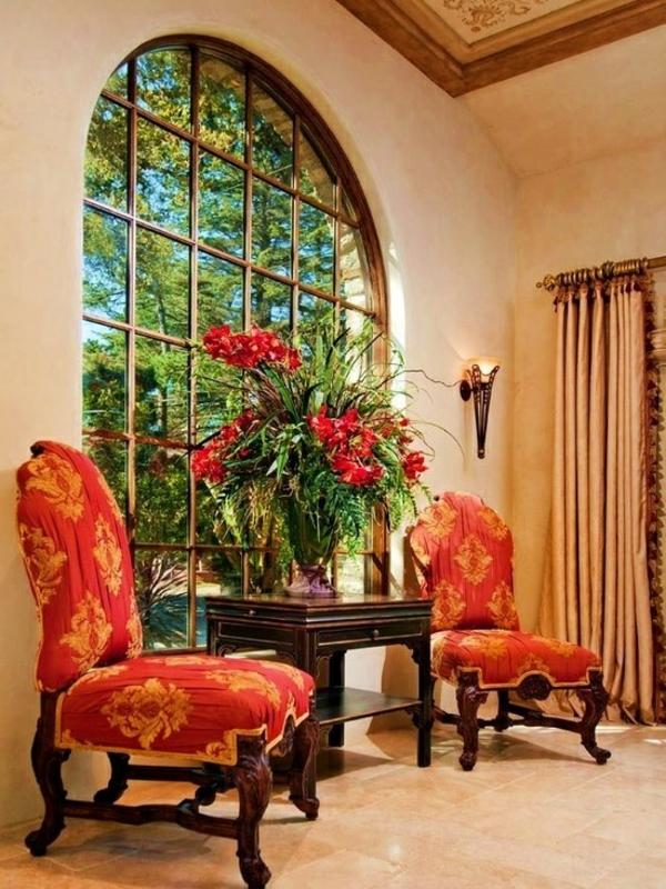 Mediterrane-Einrichtungsideen-rote-sofas