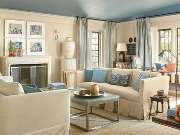 design wohnzimmer blau beige wohnzimmer grau blau tapeten